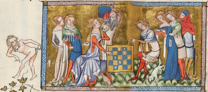 Скабрезные картинки в средневековых рукописях.