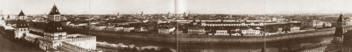 Панорама Замоскворечья, открывающаяся с балкона Большого Кремлёвского дворца.