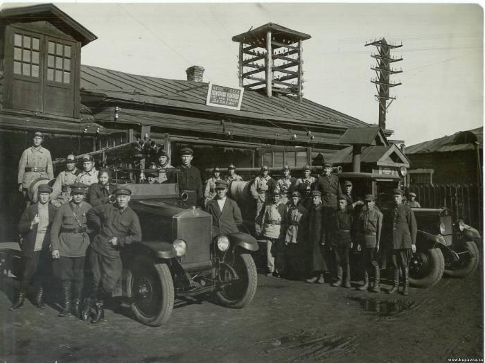 Пожарная часть в Старой Купавне.
