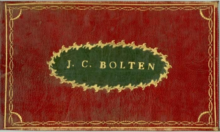 Alba amicorum Джейкоба Корнелия Болтен (1787-1859).
