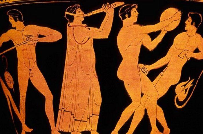 Олимпийские игры: спортсмены-нудисты.