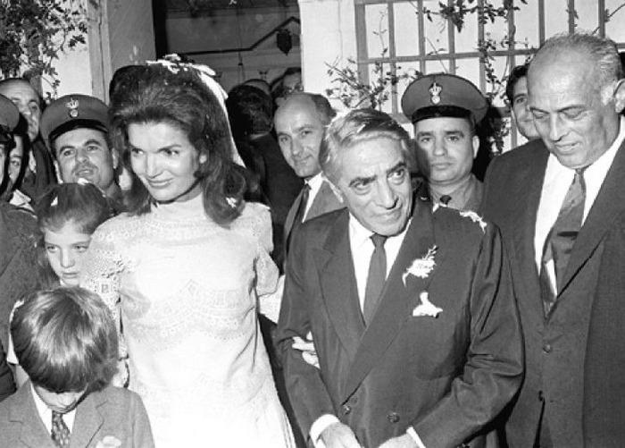 Свадьба Аристотеля Онассиса и Жаклин Кеннеди.