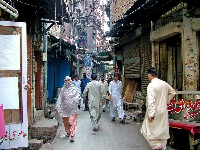 На улицах Лахора.
