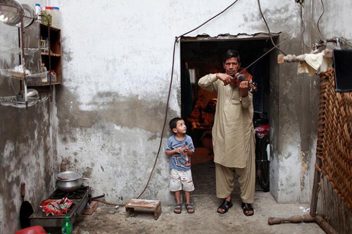 Музыкант в Лахоре.