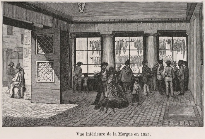 Интерьер морга 1885 года.