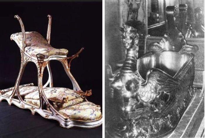 Сиденье любви Эдуарда VII (слева) и его ванна (справа)