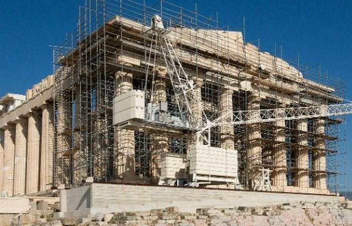 Реставрация Парфенона.
