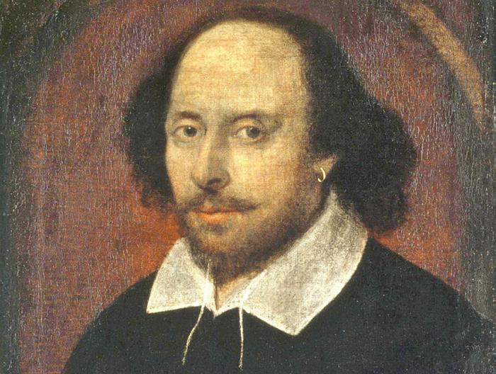 Единственный сохранившийся портрет Шекспира.