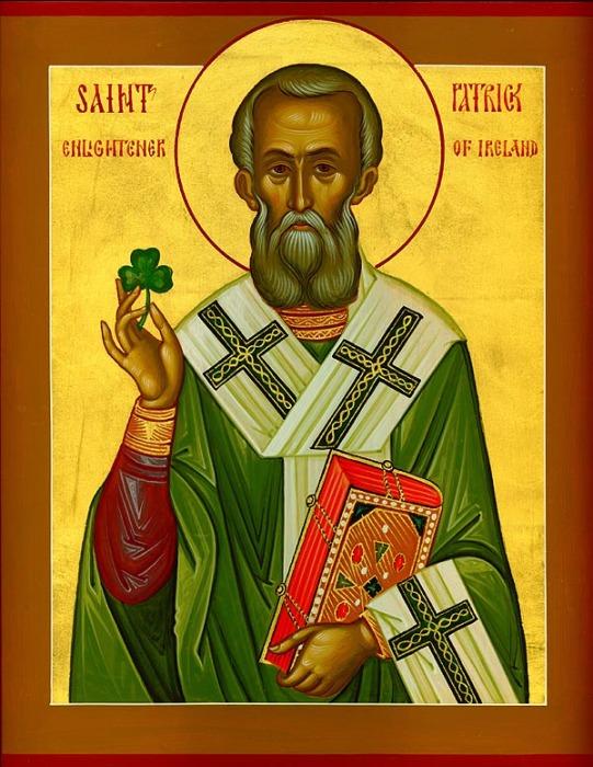 Святой Патрик. Икона.