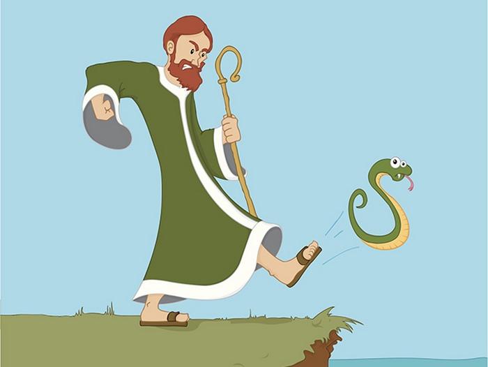 Святой Патрик и змеи.