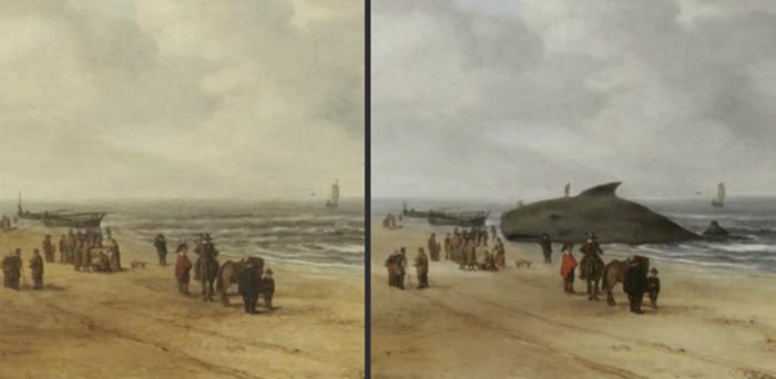 Пляжная сцена. Хендрик ван Антониссен.