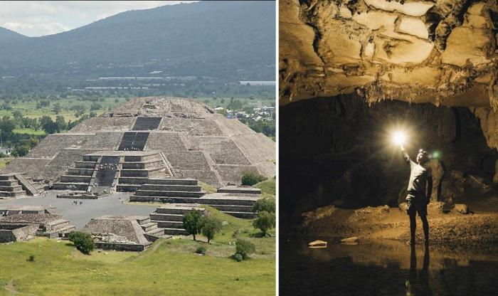 Обнаружен секретный туннель под пирамидой Луны в Мексике.
