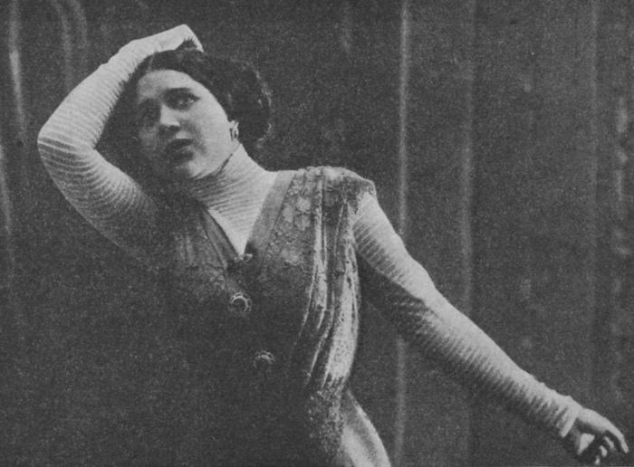 Певица Надежда Плевицкая. 1910