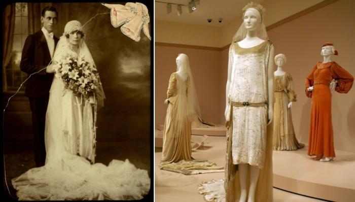 Ослепительные свадебные платья 1920-х: идеальное сочетание гламура и модных течений