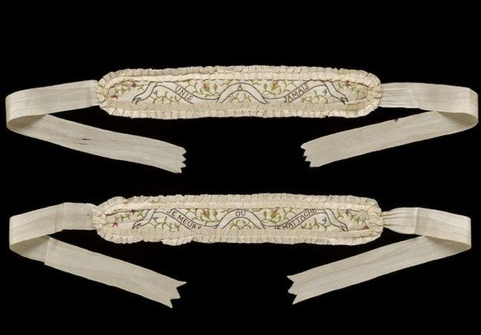 Подвязки, 1780-е.