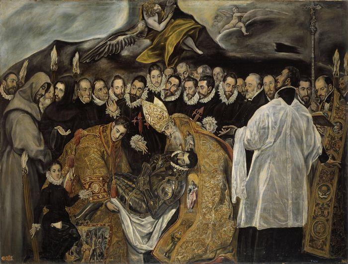 Фрагмент картины Эль Греко *Погребение графа Оргаса*
