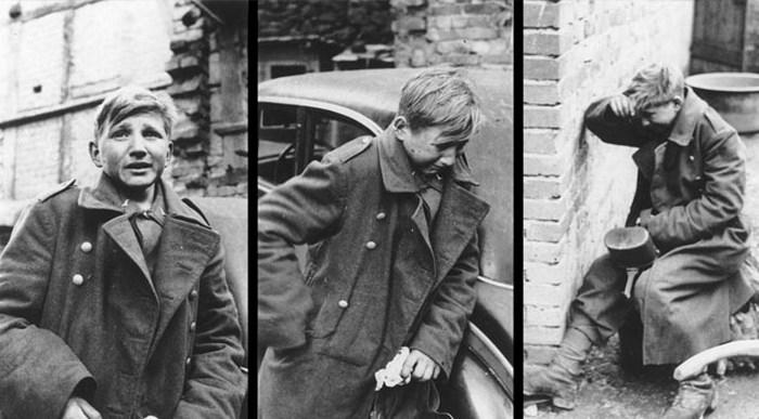 Плачущий мальчик-солдат.