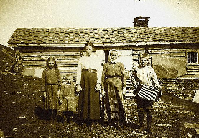Поморская семья в Норвегии/