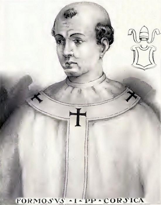 Иллюстрация папы Формоза из «Жизни и времен пап» Шевалье Арто де Монтора, 1842 год.