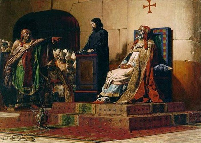 Жан-Поль Лоран «Папы Формоз и Стефан VI», 1870 год.