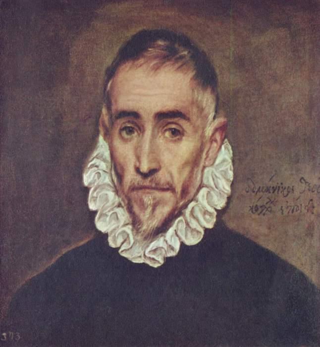Портрет пожилого мужчины (предположительно, автопортрет Эль Греко). Написан около 1600 года.