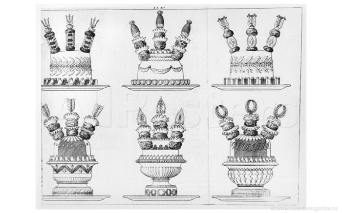 Блюда Карема были настоящими архитектурными шедеврами.