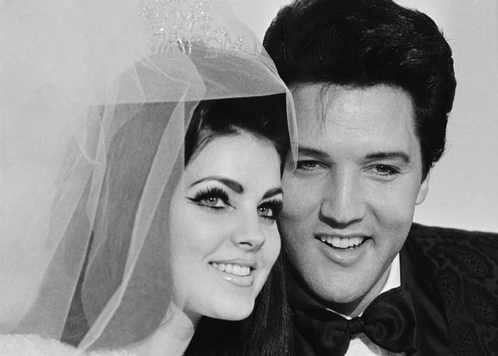 Свадебное фото Элвиса и Присциллы. / Фото: pobedpix.com