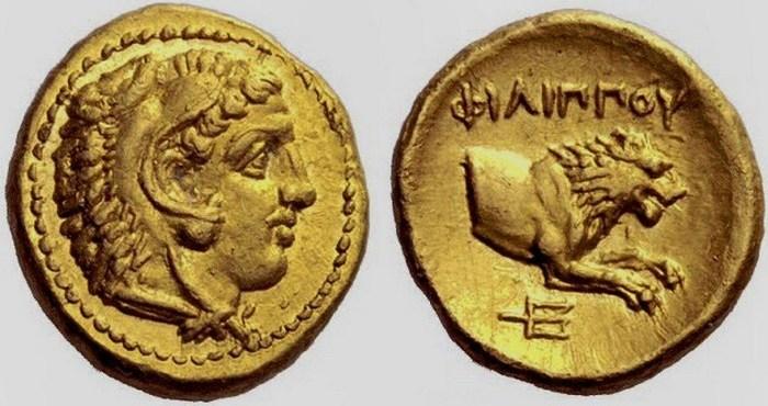 Монеты Филиппа Македонского. | Фото listverse.com