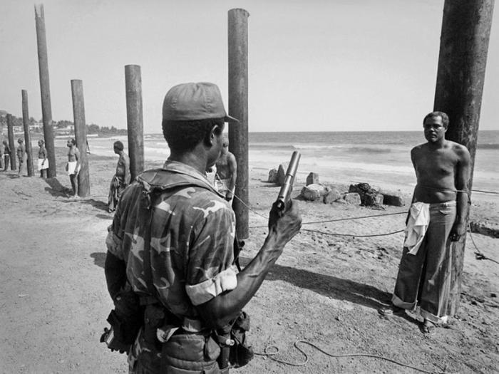 Казнь в Либерии.