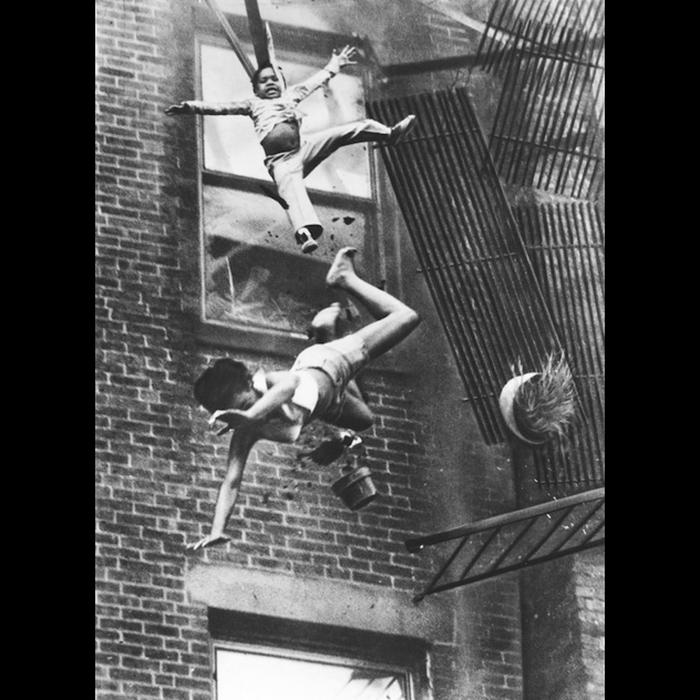 Крушение пожарной лестницы.