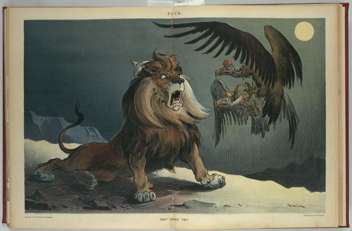Английский лев против России и Франции: «Пока еще жив».