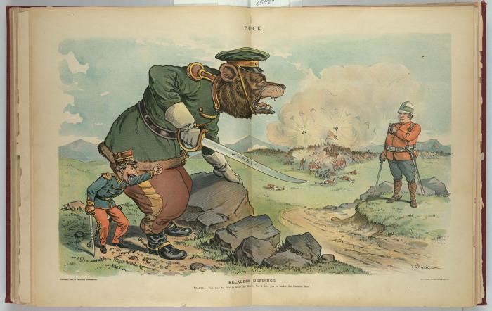 Американские карикатуры на Российскую Империю.»