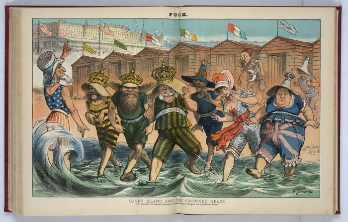 «Царские особы на пляже Кони-Айленда»