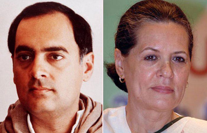 Раджив Ганди и Соня Майно.