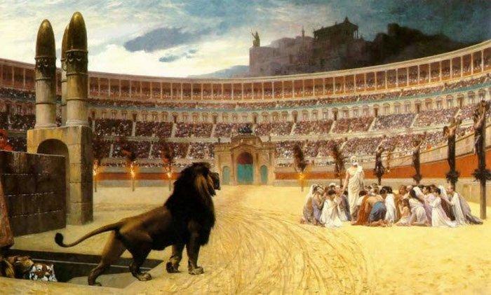 Животные на арене Колизея.
