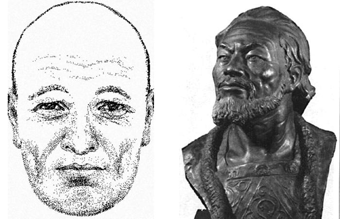 Как выглядел Андрей Боголюбский: реконструкция выполненная В.Н. Звягиным (слева) и М.М. Герасимовым (спрва).
