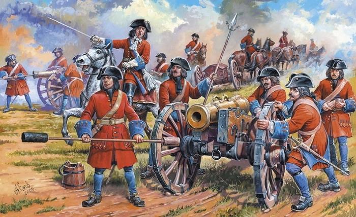 Петровские артиллеристы. С картины художника Ежова