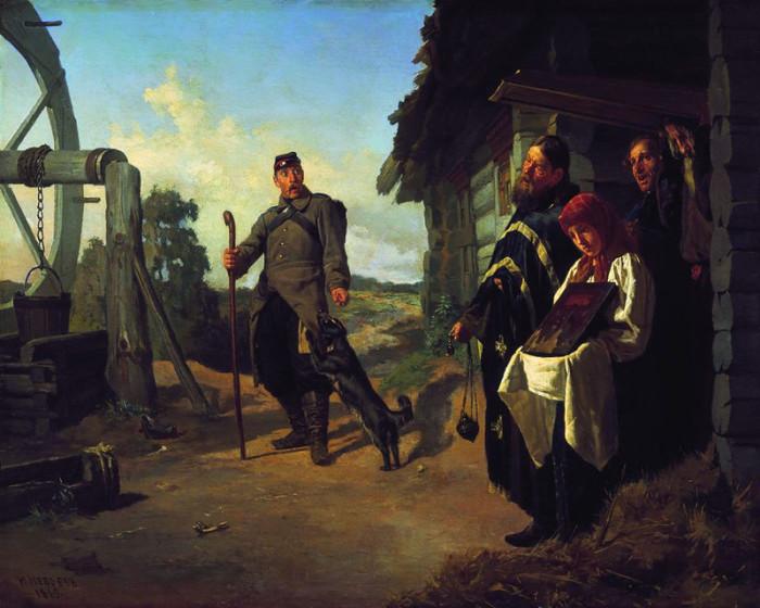 Неврев Н.В. «Возвращение солдата на родину», 1869 год