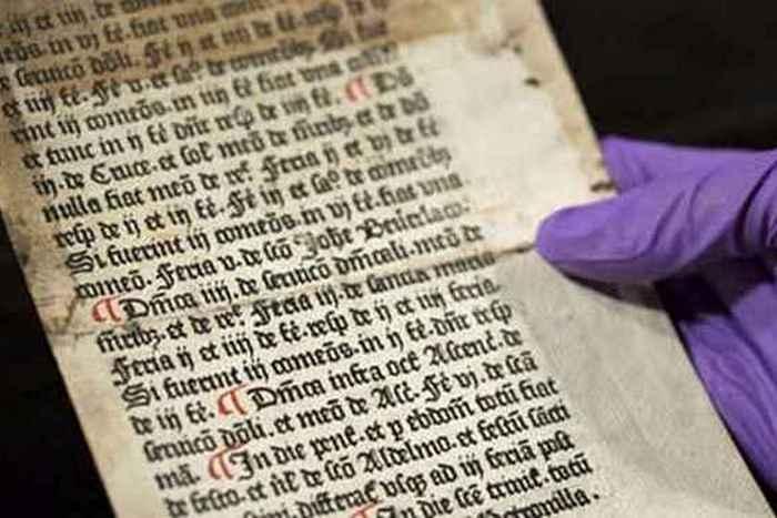 Религиозный артефакт: страница из «Sarum Ordinal».