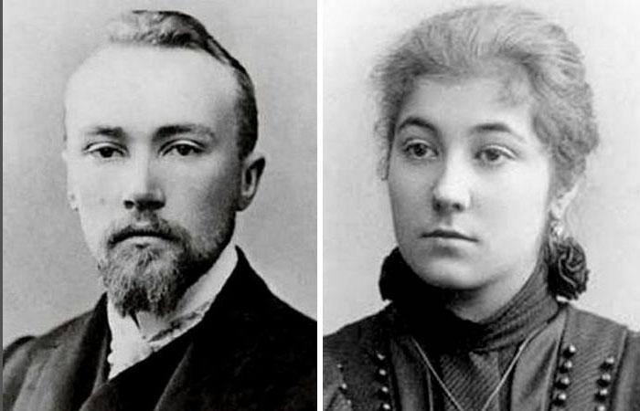 Николай и Елена Рерихи.