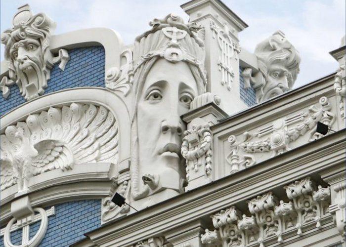Деталь здания, проект Жан-Пьера Далбер, Париж.