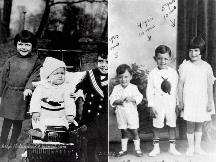 Рита Хейворт с братьями.