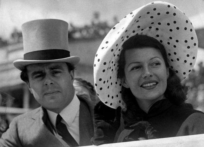 Принц Али Хан с женой Ритой Хейворт.