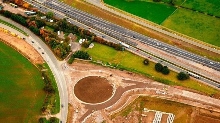 Фотография реконструкции дороги А1.