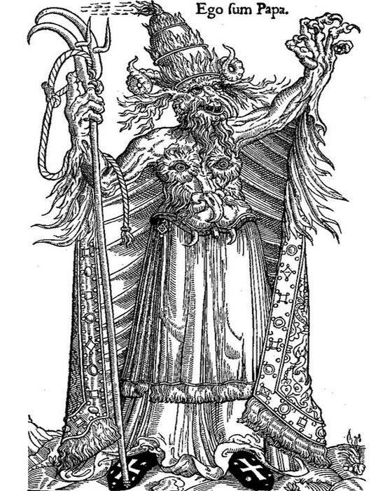 Протестантская карикатура на Александра VI Борджиа . / Фото: qguys.com