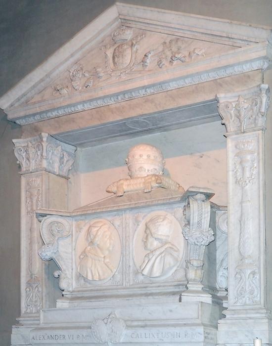Гробница пап Александра VI и Каликста III . / Фото: triposo.com