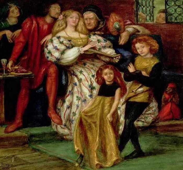 Фрагмент картины «Семейство Борджиа», худ. Данте Габриэла Росетти./фото: wikireading.ru