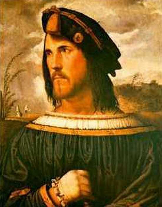 Фрагмент картины «Цезарь Борджиа», худ. Альтобелло Мелон.