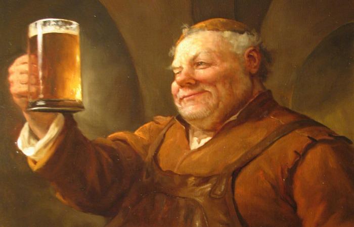 Немецкие монахи и пиво./ фото:picpool.ru
