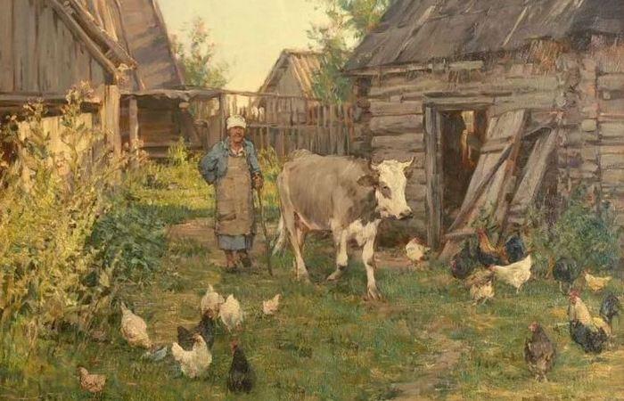 Вечер в русской деревне./ Фото: dubli.com